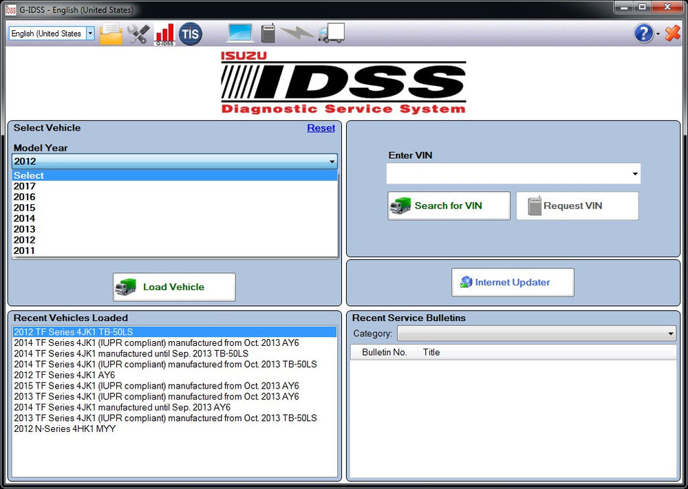 Isuzu Diagnostic Service System IDSS II 02/2017 Include G-IDSS & E-IDSS For Global Support- Full Online Installation And Support