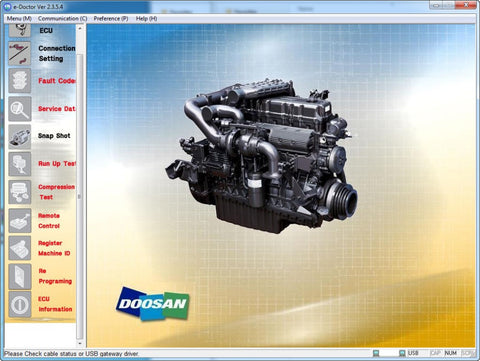 Doosan E-Doctor Industry and Construction Engine Diagnostic Software 2016 - Full Level Activation