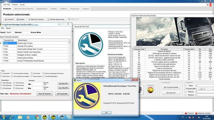 Volvo Premium Tech Tool PTT 2.04.87 Development Mode + Dev2tool & Latest Acpi+ (Full & Latest Diagnostic Pack 2016 -Full Online Installation & Support Service !)