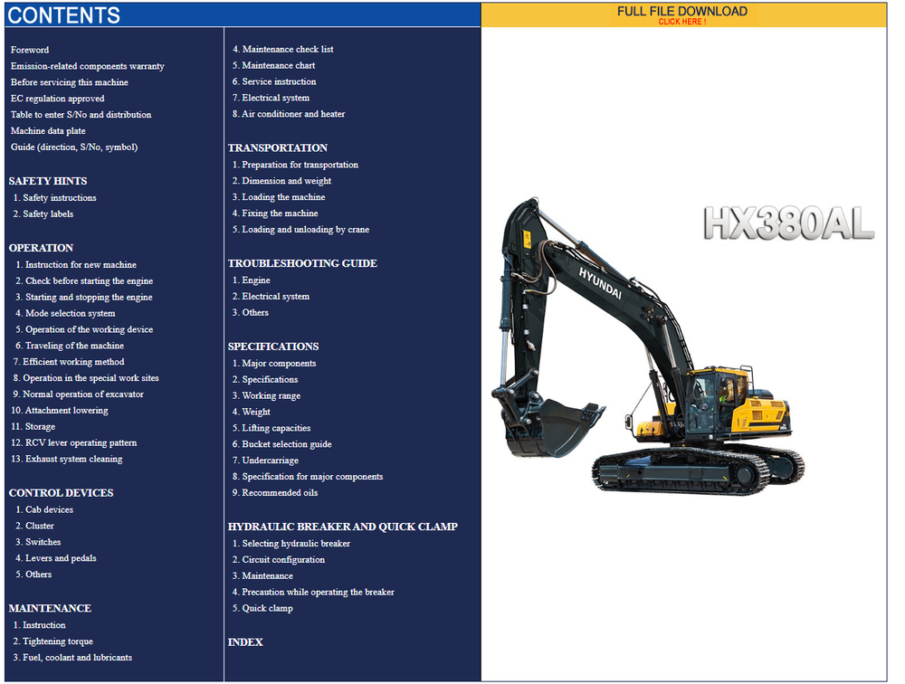 Hyundai CERES Heavy Equipment Operator Manuals Set Updated [04.2021] Offline DVD