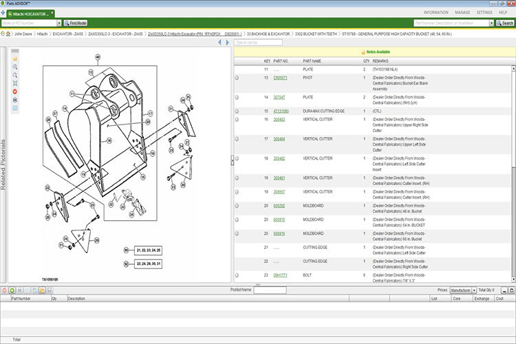 John Deere Parts Advisor 2019 EPC -John Deere & Hitachi Models (CF & AG & CCE ) Parts Manuals Software 2019