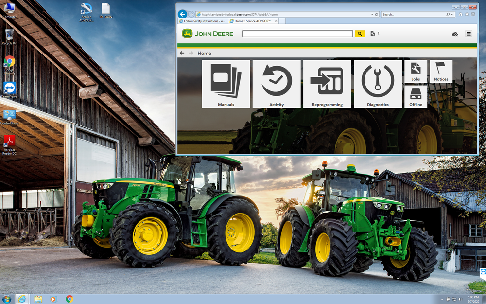 John Deere EDL v3 Interface & Service Advisor 5.3 Pre Installed CF-52 Laptop - Complete Diagnostic Kit 2021 AG CF & Turf !