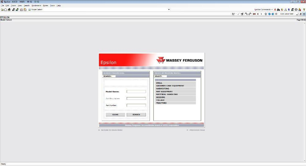 Massey Ferguson Europe EPC Parts Catalog / Parts Manuals For All Models Up To 2016