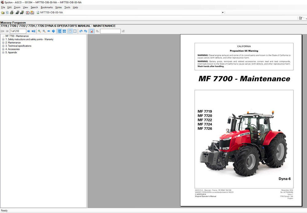 AGCO Agricultural EPC & Service Info ALL Database EU-UK Latest 2021 -ALL Parts & Service Manuals !