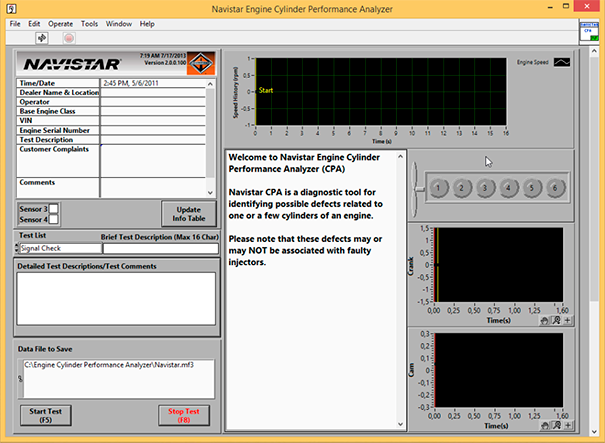 Navistar Engine Cylinder Performance Analyzer (CPA) v7.8.8.1 English - Online Installation Service Included !