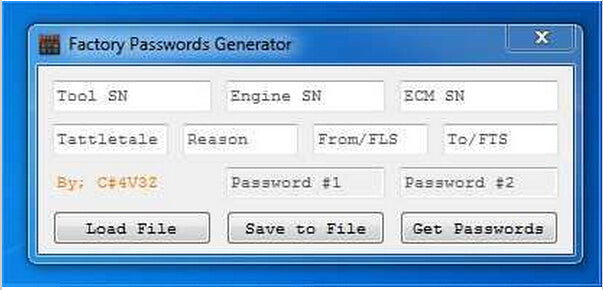 FACTORY PASSWORDS GENERATOR - For ALL CAAT Models Up To 2013 [USB dongle] -All 10 Digits Password