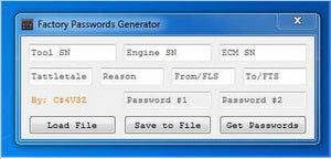 FACTORY PASSWORDS GENERATOR - For CAAT ET  [USB dongle] -All 10 Digits Password