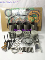 Overhaul Rebuild Kit For ISUZU 4LC1 Engine Parts Repair For SUMITOMO SH40JX IHI 40JX