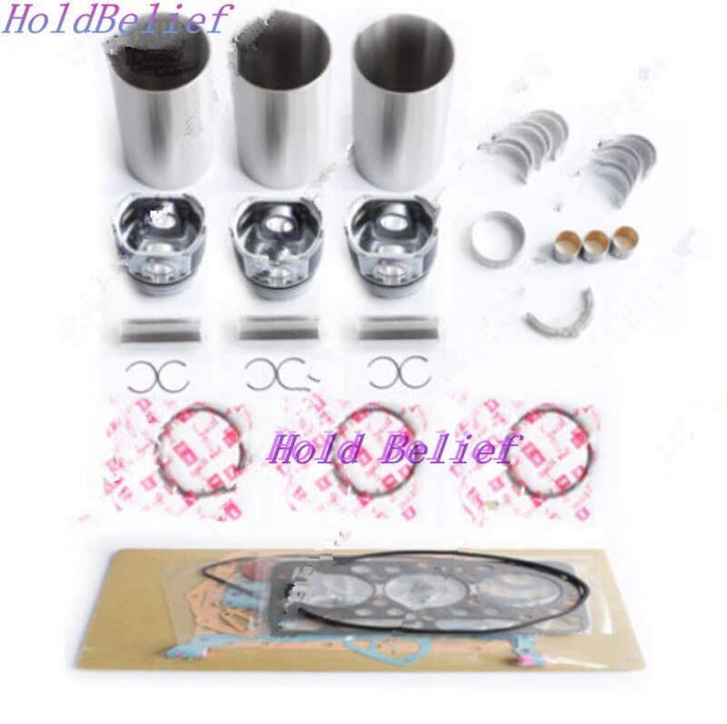 Overhaul Rebuild Kit For Isuzu 3KC1 Engine For Hitachi EX12 EX15 EX20 EX30 Parts