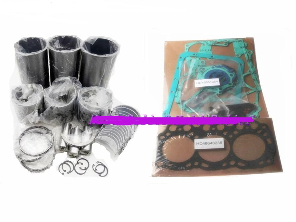 Overhaul Rebuild Repair Kit Parts +0.25/0.5mm Size For Mitsubishi L3E-61SDH L3E Engine For Volvo EC15 Free Shipping