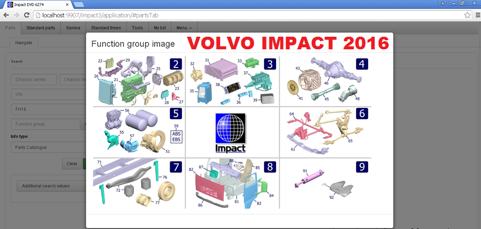 Volvo Impact 2016 Trucks & Bus EPC - Spare Parts Catalog & Service Information System