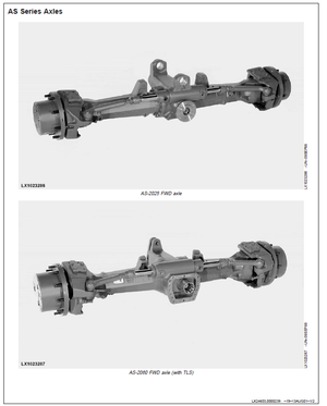 John Deere Front-Wheel Drive Axles MS-2025 MS-2035 and MS-2045 Official Workshop Service Manual
