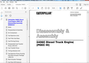 3406C Diesel Truck Engine (PEEC-III) Disassembly Assembly Manual
