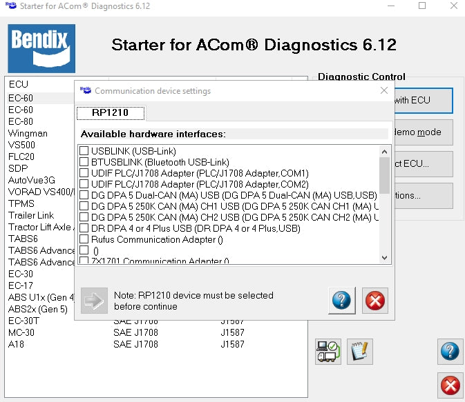 Bendix ACOM 6.12.2.2 ABS Diagnostic Software - Complete Version 2016 - Full Online installation !!