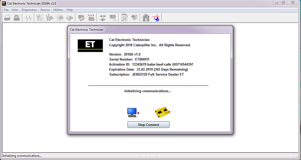 Electronic Technician ET2018C - For All Caterpilllar Models Diagnostics Software - Latest Version 2018 ! Online Installation Service !