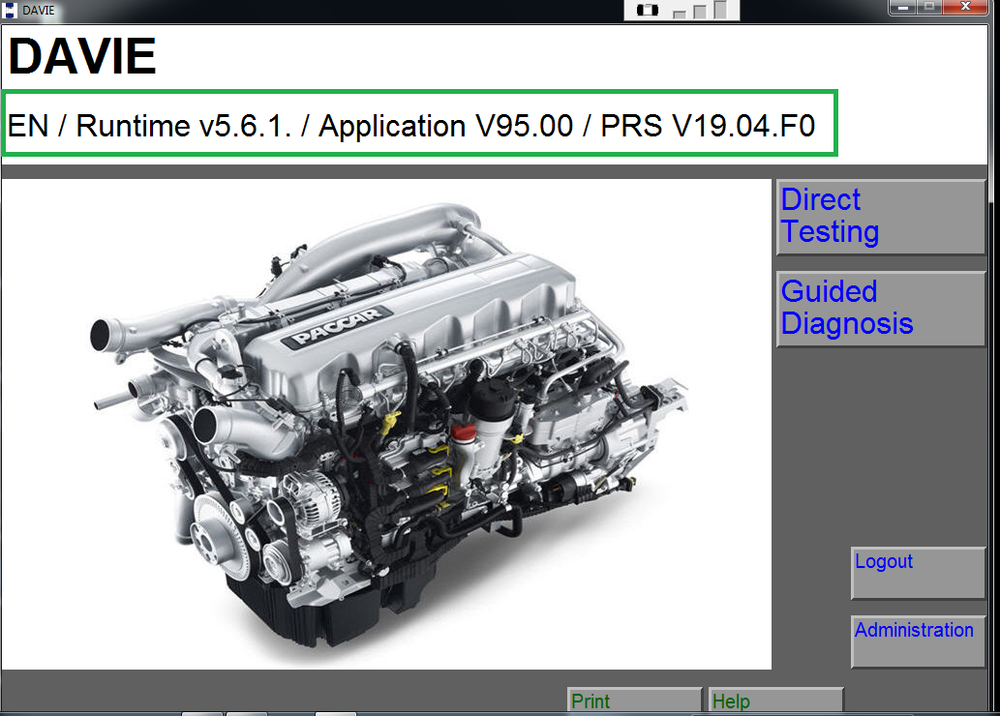 DAF Davie 5.6.1 APP 95.00 PRSubset 19.40.F4 Diagnostic Software For Paccar 2019 - Latest & Complete Pack -Full Online Installation & Activation !