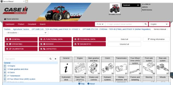 eTimGo For CNH EST [01.2021] Repair Manual & Service Info Offline - For New Holland / Case / Case IH / Miller / Steyr /  Flexicoil / Kobelco
