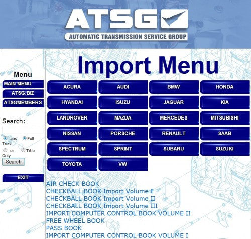 ATSG 2012 Automatic Transmission Service Group-All Models Up To 2012 - Diagnostics & Service Software-More Then 1 Pc !