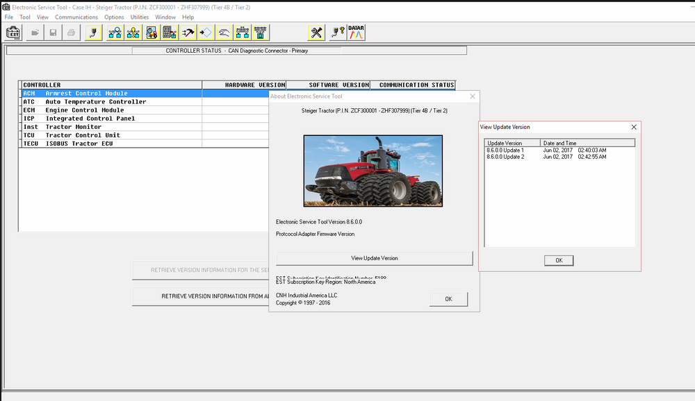 New Holland Case Electronic Service Tools CNH EST 8.6 Diagnostics Software - Engineering Level 2017 ! Vollständiger Online-Installations- und Aktivierungsservice!