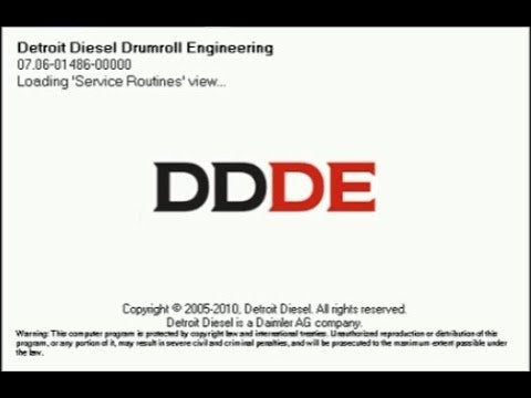 Detroit Diesel Drumroll Engineering (DDDE 7.08) All Parameters 100% Works ! Full Online Installation Service included !