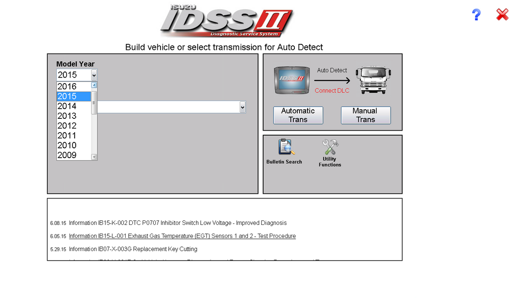 Isuzu Diagnostic Service System IDSS II - Full diagnostics Software 04/2016 -Full Online Installation And Support