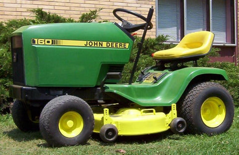John Deere 130 , 160 , 165 , 175 , 180 And 185 Lawn Tractors Technical Service Manual
