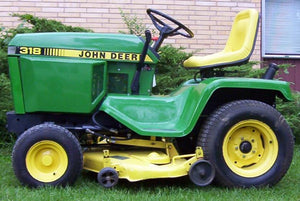john deere 300 series 316 318 and 420 lawn and garden tractors rh the best manuals online com Grill John Deere 316 318 John Deere 318 Parts