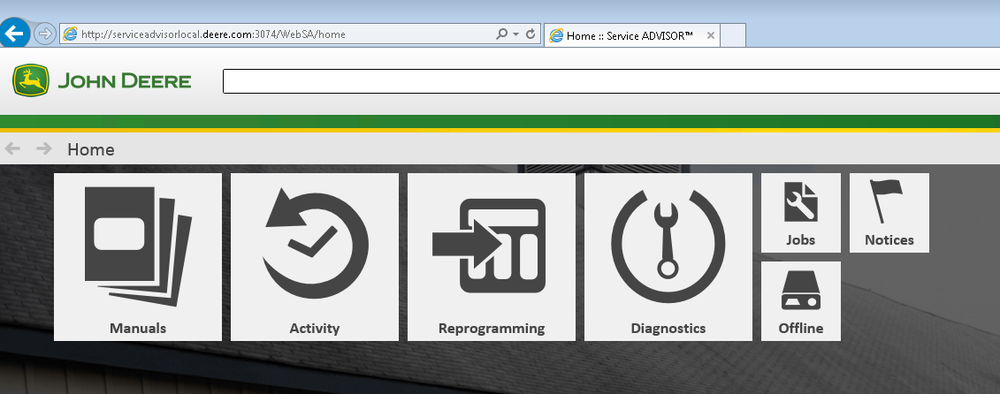 John Deere Service Advisor 5.2 CF Construction 2020 Offline - All Models All Serials Service Info Manuals & Diagnostics