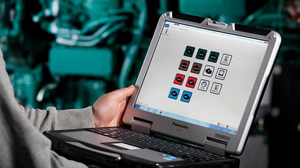 Volvo PENTA VODIA5 DIAGNOSTIC Kit Include 88890300 Vocom Interface - Include VODIA5 Software & Panasonic CF-52 Laptop