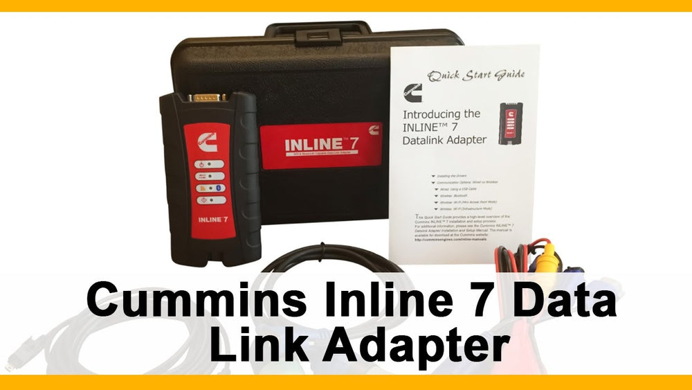 ORIGINAL Cummings INLINE 7 Data Link Adapter Diagnostic Kit - Full Kit With Insite 8.7 Diagnostic Program- Latest 2020 !