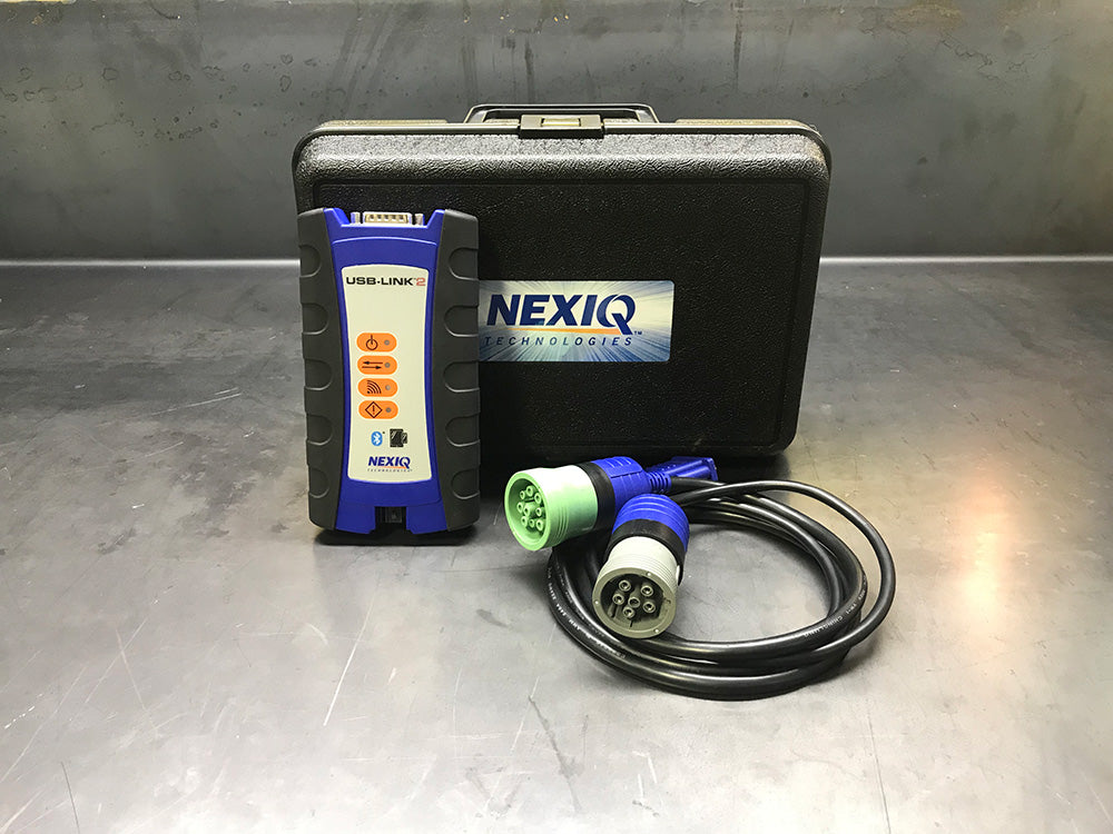 124032 echte Nexiq USB Link 2 & CF-52 laptop-universele Heavy Duty Diagnostic Kit met alle software pakket vooraf geïnstalleerd-CAT-Cummins-Detroit diesel-Volvo-Allison-Hino en meer!!!