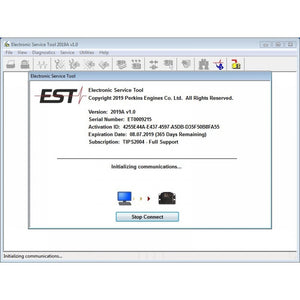 EST 2019A Electronic Service Tool For Perkinss - All Models Diagnostics Software !