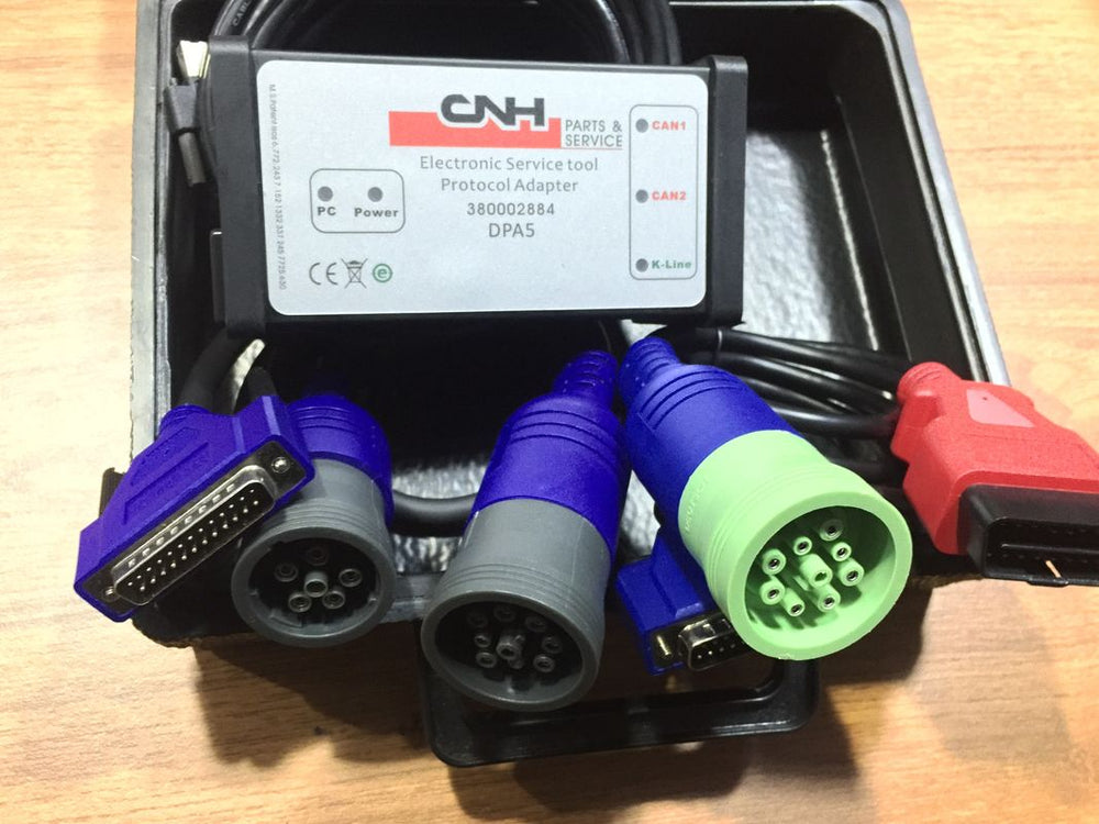 New Holland Case Diagnostic Kit - CNH Est DPA 5 Diesel Engine Electronic Service Tool Adapter 380002884-Include CNH 9.1 Engineering Software - 499$ Value !