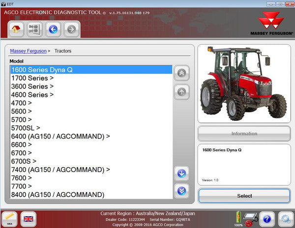 AGCO \ FENDT \ Massey Ferguson - DIAGNOSTIC KIT (CANUSB) - With Latest Electronic Diagnostic Tool (EDT) 2019