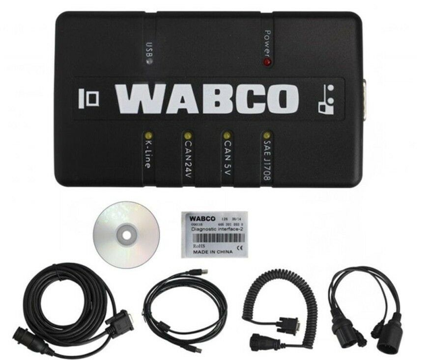 Meritor WABCO Diagnostics Kit WDI With TEBS-E v5.5 - ABS And HPB Diagnostics Software Latest 2019 - Windows 10 Supported ! !