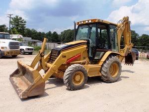 Caterpillar 416D and 424D Backhoe Loader Hydraulic System Schematics \ Diagrams