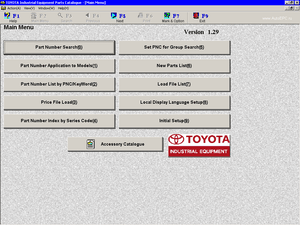 Toyota ALL Industrial Equipment EPC v2.02 - Toyota EPC 2017 All Models & Serials Parts Catalog & Diagrams