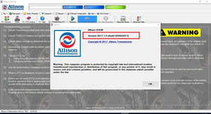 Universal Allison DOC for PC 2017 Diagnostic Software- Latest Version 2017 - Highest Level Activation - Full Online Installation & And Activation Service !