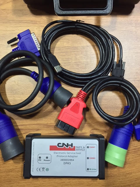 CNH Est DPA 5 Diagnostic Kit New Holland Diesel Engine Electronic Service Tool Adapter 380002884-Include CNH 8.6 Engineering Software - 350$ Value !