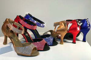 ladies ballroom and latin dance shoes