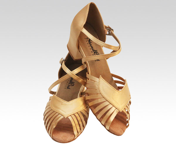tan latin and ballroom dance shoes