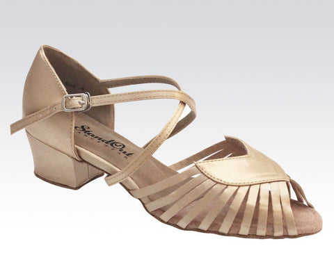 Ladies tan coloured dance shoes