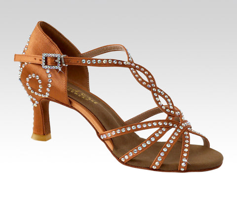 Ladies latin tan dance shoes - StandOut Dancewear uk