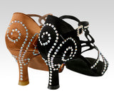 Ladies latin dance shoes 2.5 inch heel - standout dancewear uk