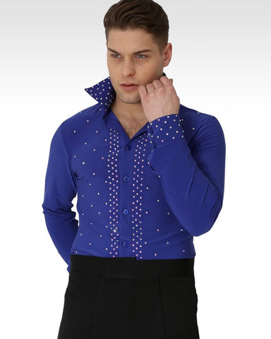 William Dance Shirt Royal Blue