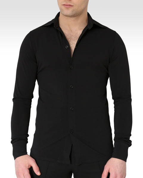 mens stretchy dance shirt