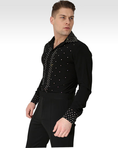 mens dance shirt for latin and ballroom dance