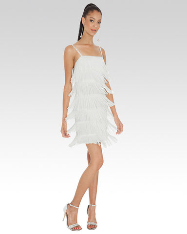 Fringe Dress Cream - StandOut Dancewear