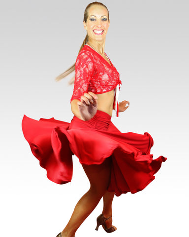 Swirly Red Skirt - StandOut Dancewear