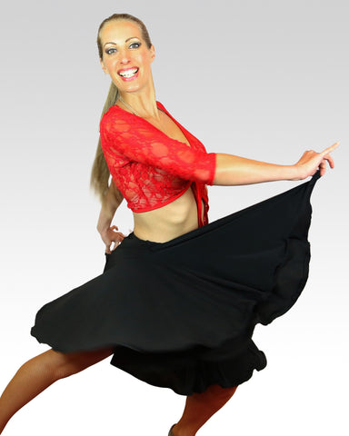 Swirly Black Skirt - StandOut Dancewear